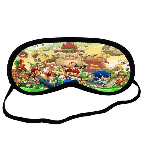 Custom Sonic the Hedgehog Super Mario Sleeping Mask, Comfortable Soft Cotton Shading breathable Sleeping Aids Eye Mask Cover Travel & Work Rest