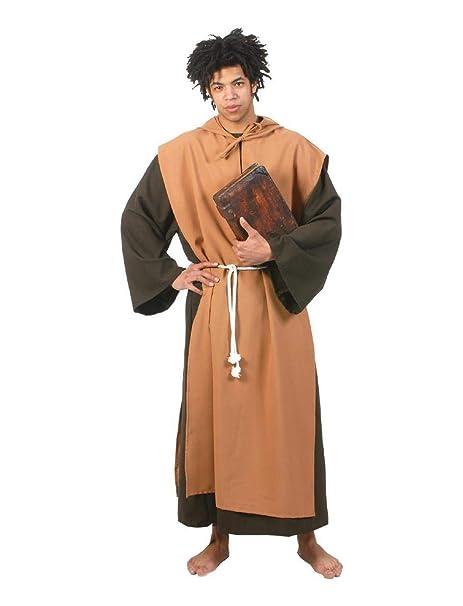 Krause & Sohn Traje Padre Gr. 48-58 túnica marrón monje (56 ...