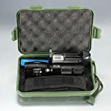 2200Lm CREE XM-L T6 LED Zoomable Flashlight Torch Lamp+18650 Battery+Charger+Box