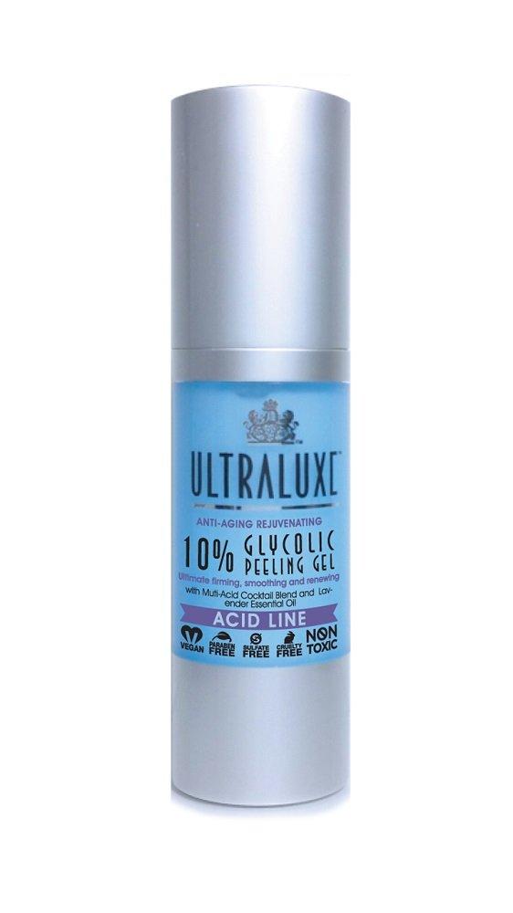 ULTRALUXE SKIN CARE Anti-Aging Rejuvenating 10% Glycolic Peeling Gel, 1 oz