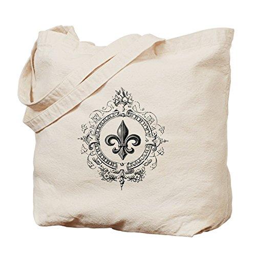 CafePress–Vintage francés Fleur De Lis–Gamuza de bolsa de lona bolsa, bolsa de la compra