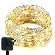 Amazon Lightning Deal 94% claimed: String Lights,Oak Leaf 33ft LED Starry Lights With UL Certified 3V Power Adapter For Seasonal Decorative Christmas Holiday Wedding Parties Home Bedroom,Warm White 100 Leds