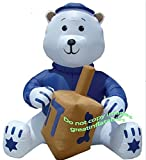 AIRBLOWN INFLATABLE 11 FT TALL HANUKKAH BEAR WITH DREIDEL AND YAMAKA