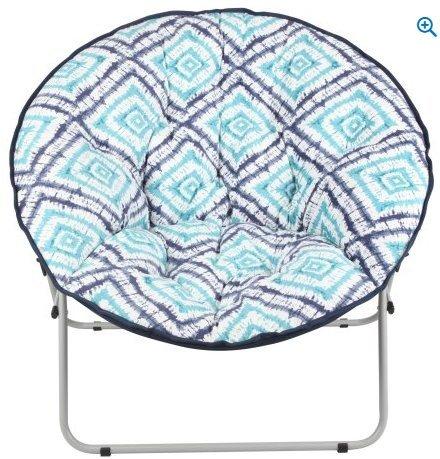Oversize Saucer Faux-Fur Chair (Tie Dye Diamond)