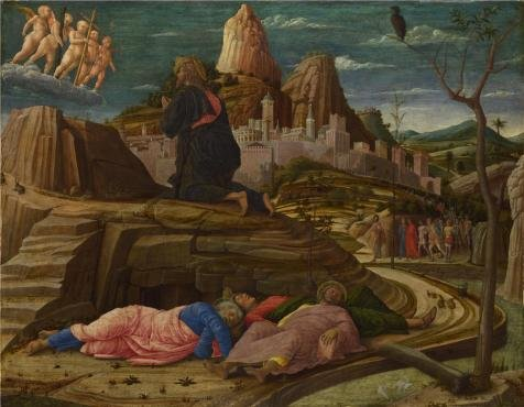 High Quality Polyster Canvas ,the Amazing Art Decorative Canvas Prints Of Oil Painting 'Andrea Mantegna - The Agony In The Garden,about 1458-60', 16x21 Inch / 41x52 Cm Is Best For Laundry Room Decoration And Home Decor And Gifts