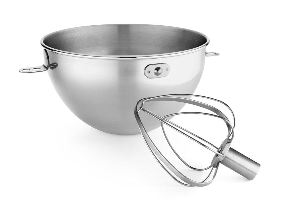 Amazon.com: KitchenAid KN3CW 3 Qt. Stainless Steel Bowl U0026 Combi Whip   Fits  Bowl Lift Models KV25G And KP26M1X: Electric Mixer Replacement Parts:  Kitchen U0026 ...