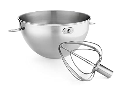 87a481d97ae7 Image Unavailable. Image not available for. Color: KitchenAid KN3CW 3-Qt. Stainless  Steel Bowl ...