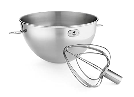 Amazon.com: KitchenAid KN3CW 3-Qt. Stainless Steel Bowl & Combi-Whip ...