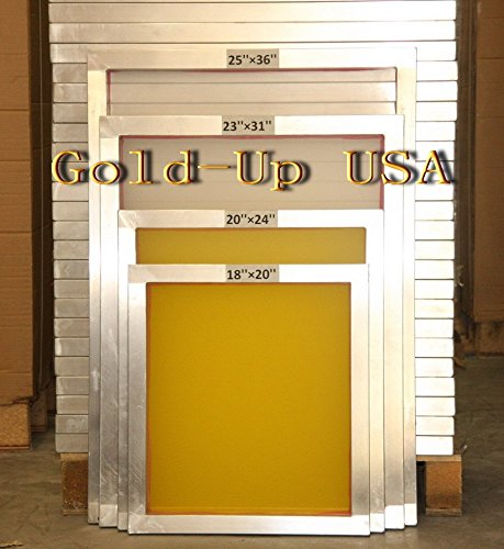 Aluminum Screen Printing Frames AL 18'' x 20'' with 305 Yellow Mesh (6 Pack) by GoldUpUSAInc