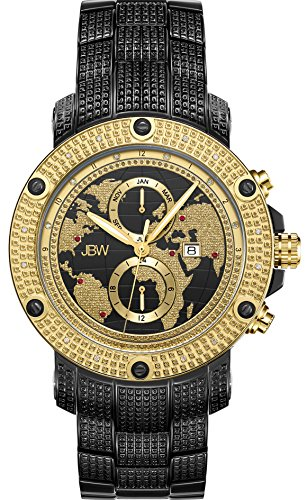 JBW Men's Veyron .18 ctw Diamond Black Ion-Plated Stainless Steel Watch J6360E