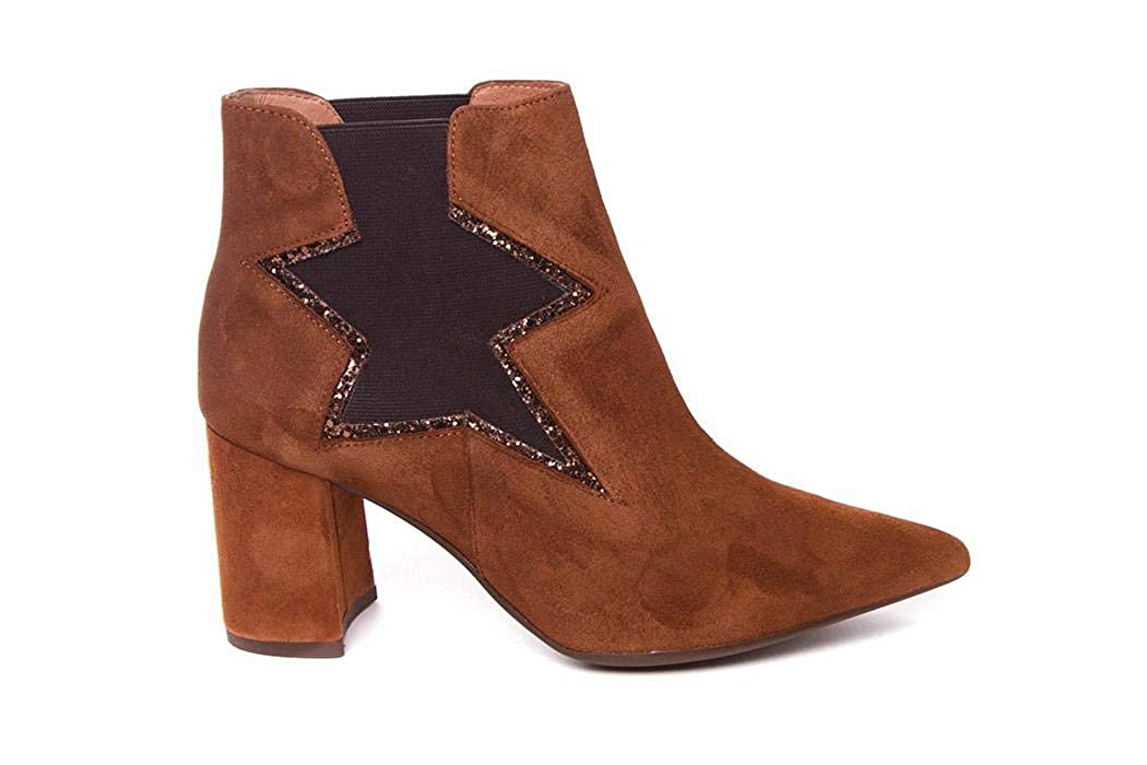 Botines de Mujer con tacón - Serraje Piel - Vexed 18709: Amazon.es: Zapatos y complementos