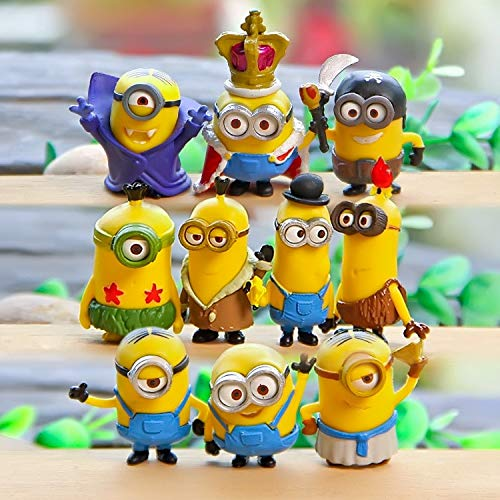 PAPEO Set 10 Figurine 1.5-2 inch Hot PVC Action Figures Figure Toy Small Toys Mini Model Gifts Christmas Halloween Birthday Gift Collection Collectible Movie for Kids Adults]()