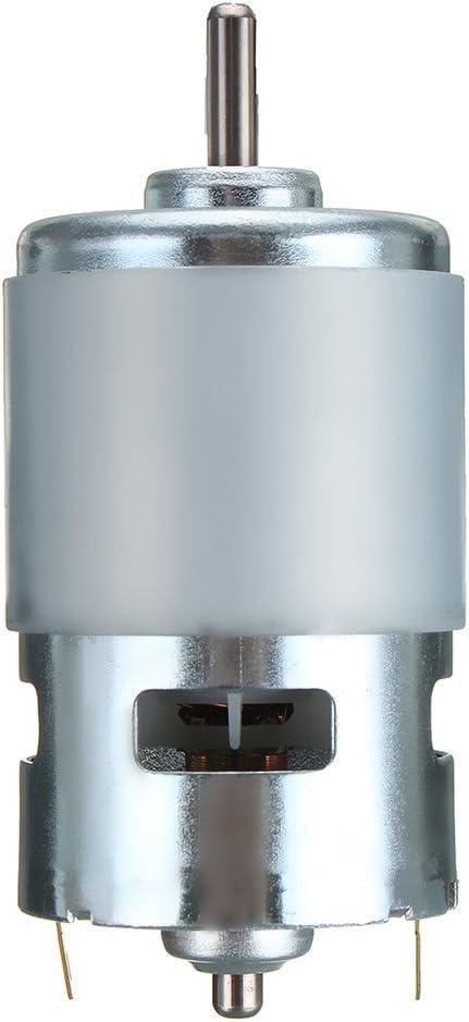 VCB 775 DC 12V-24V 3500-9000RPM Motor Rodamiento de Bolas Motor de Gran par de bajo Ruido - Plateado