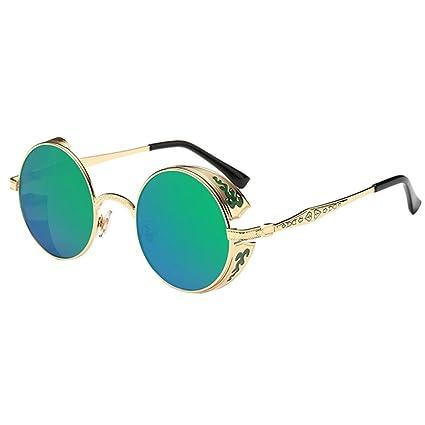 VENMO Gafas de Sol, Mujeres Hombres Verano Vintage Retro Redondas Gafas de Color Degradado