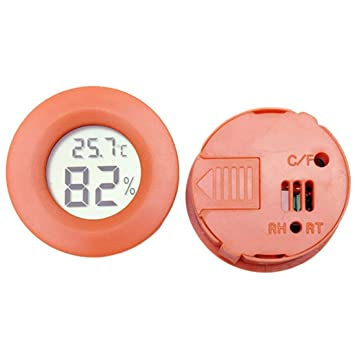 Mini Redondo LCD Termómetro Digital Higrómetro Frigorífico ...