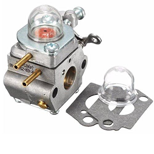 Hippotech Carburetor with Primer Bulb Oil Cap Spacer for Walbro WT-973 WT-1116 Troy-Bilt TB21EC TB22EC TB32EC TB42BC TB80EC Y25 Y60 Y128 YM21CS YM71SS RM2510 RM2520 String Trimmer