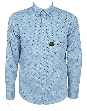G Star RAW Modernist Radar Shirt in Kornblue, Size XL, $140