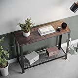 VASAGLE Industrial Console Sofa Table, for