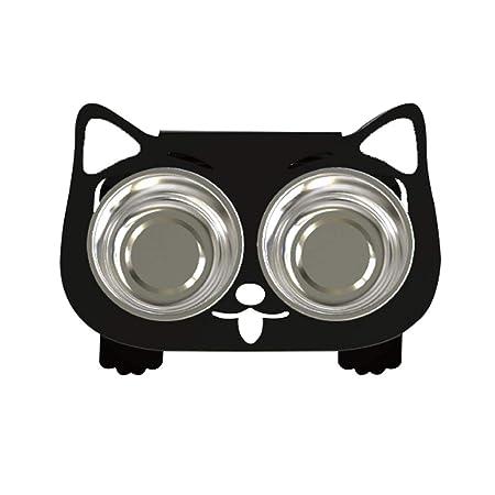 Cuencos para perros gato, mesa de comedor para mascotas, tazón de ...