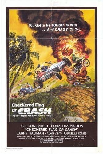 Bandera a cuadros o Crash – Póster de la película (27 x 40 Inches – 69 cm x 102 cm) (1977) por decorativo pared Póster: Amazon.es: Hogar