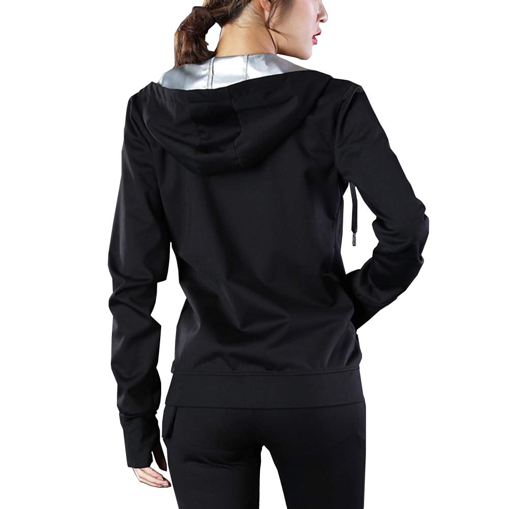 Homieco Women Weight Loss Clothing Sweat Explosion Sweat Suit Sport Yoga Coat