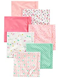 Simple Joys by Carter's baby-girls Baby 7-pack Flannel Receiving Blankets