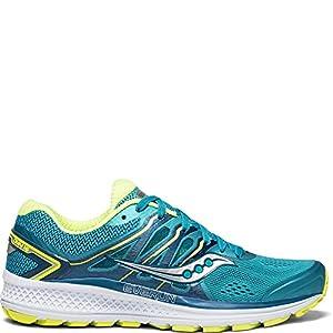Saucony Women's Omni 16 Running Shoe, Teal/Citron, 9 Medium US