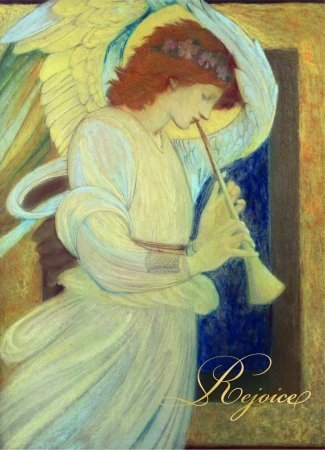 Birchcraft Studios 9013 an Angel Playing a Flageolet - Gold Lined Envelope with White Lining - Gold Ink - Pack of 25 ()