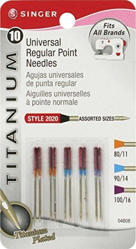 4 Size 80//11 Needles 2 Size 100//16 Needles Singer 2020 Regular Point Sewing Machine Needles Assorted 10-Pack 4 Size 90//14 Needles