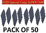 Pack of 50 VVDI Super Transponder Chip Convertible Clone XT27A01 XT27A66 Transponder Clone for VVDI VVDI2 Mini Key Tool Bundle ID46 40 43 4D 8C 8A T3 47
