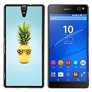 YiPhone /// Prima de resorte delgada de la cubierta del caso de Shell Armor - Naturaleza Hermosa Forrest Verde 94 - Sony Xperia C5 Ultra