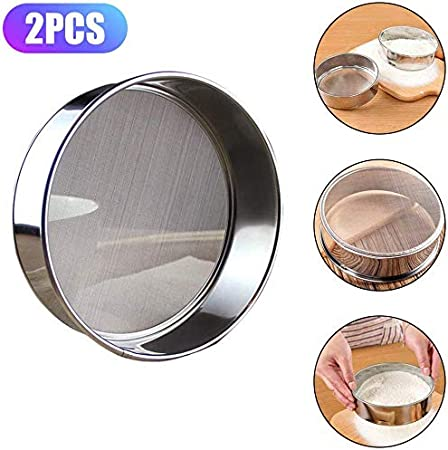 Stainless Steel 22/X 22/X 8/CM Silver K/üchenprofi 1007042822/Flour Sifter