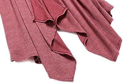 Womens Drape Open Front Asymmetrical Waterfall Long Cardigan Ladies Outerwear