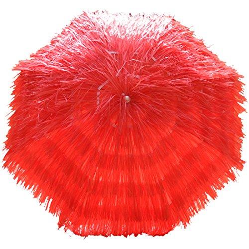 Greenbay Hawaiian Parasol Beach Parasol Patio Garden Umbrella Sun Shade Tilting Red Manufactured for Greenbay