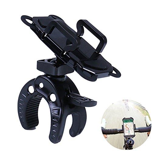 Phone Mount Motorcycle Bike ATV Bicycle Handlebar Holder for iPhone 8 (X, 7, 5, 6 Plus),Samsung Smartphones