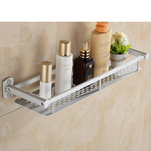 Bathroom racks/Bathroom space aluminum rack/Wall-mounted mirror dressing table Towel rack-C 30%OFF