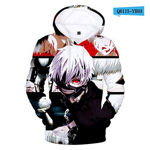 Imprimé Unisexe Pull Swa5 Sweatshirt Tokyo Ghoul Feiran 3d Hip Hop Sportswear wafnTqxZU