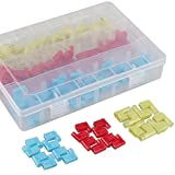 22-18 18-14 12-10 Gauge Nylon Flag Spade Female Insulated Quick Disconnects Electrical Crimp Terminals Connector Assortment Set (120 PCS)