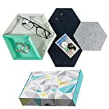 Cre8tivePick Jewelry Tray Office Desk Stationery Organizer Catchall Accessories Holder Hexagon Coaster