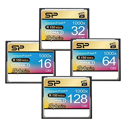Silicon Power 128GB Hi Speed 1000x Compact Flash Card (SP128GBCFC1K0V10) by Silicon Power (Image #1)