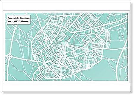 Jerez de la Frontera España City Map en estilo retro – Imán para nevera: Amazon.es: Hogar