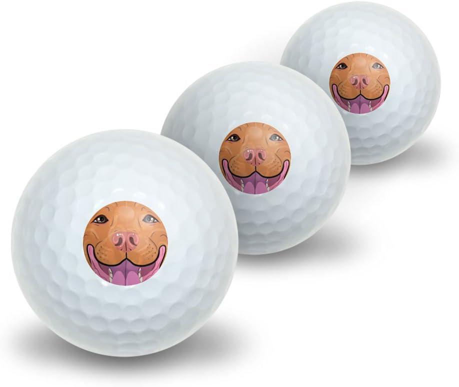 Nariz roja Pit Bull cara – Pitbull perro mascota novedad pelotas ...