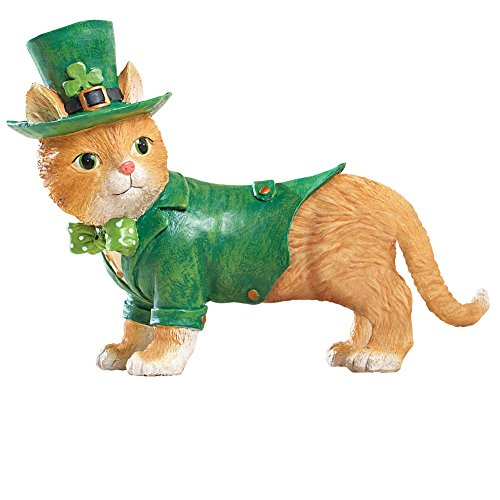 St. Patrick's Motion Sensor Cat Figurine (St Pats Figurines)
