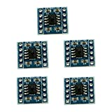 Optimus Electric 5pcs X9C104 Digital Potentiometer Module with 10mW Power Dissipation for Variable Resistance and Amplifier Control from