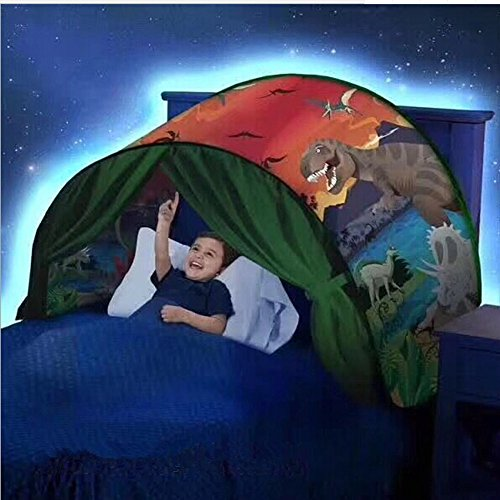 Magical Dream Tent Portable Kids Pop Up Bed Tent Playhouse Starry Sky / Dinosaurs (Dinosaurs)