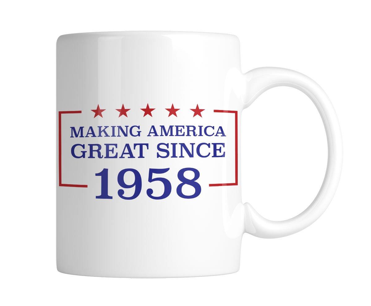 Making America Great Since 1958-60th Birthday 11 oz. Mug (1 Mug) by Inkeezy (Image #2)