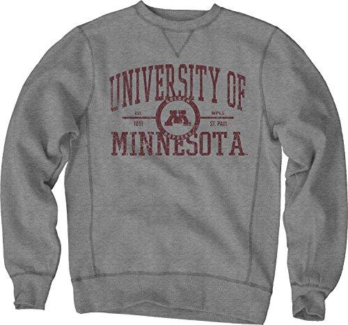 Minnesota Golden Gophers Metal (NCAA Minnesota Golden Gophers Sanded Fleece Crew Neck, Gunmetal, X-Large)