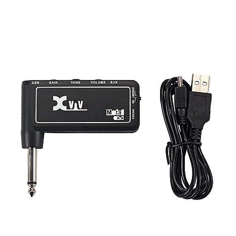 GD88 Amplificador De Amplificador De Auriculares Recargable Portátil De Guitarra Eléctrica Xvive GA3