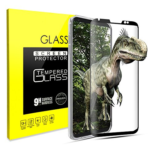 LG V30 Screen Protector, [Case Friendly], 3D Curved Tempered Glass Screen Protector[Full Coverage][High Responsivity][Bubble Free ][Scratch Resistant] Ultra Clear for LG V30 (LG V30 Black)