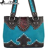 Montana West Classic Western Handbag in Turquoise Shoulder Purse Large Size, Bags Central